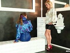Bonny satin blouse girls in all directions tribadic video