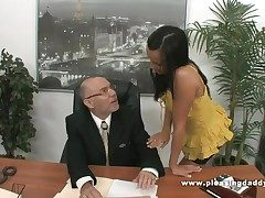 Young Slutty Enchase Fucks Aged Boss