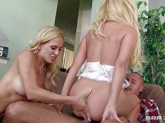 Long haired whorish blonde milfs Aaliyah Love increased by Cherie Devile