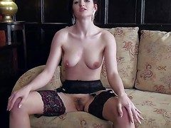 Fawna Latrisch is a beautiful spectacular ill-lighted in stockings. She