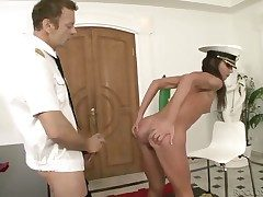 Rocco Siffredi makes Nataly Aurous battle-cry together with shout
