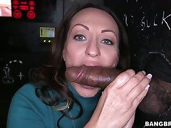 Senorita milking meat pole with the brush hot lips