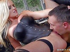 Lengthy haired blond milf Alena Croft is a sexy mistress