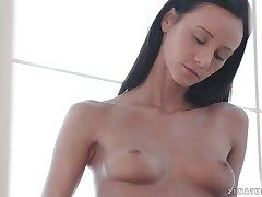 Brunette Eveline Neill rubs her super-sexy lil' tits