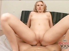 Point of view rectal sex with a nasty big butt blond