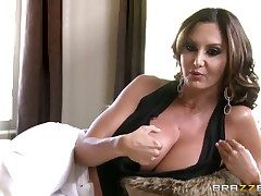 Ava Addams is conversing behind the scenes