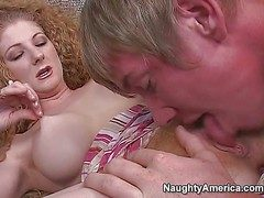 Curly redhead milf enjoys with respect on touching giving addict on touching the brush pioneering